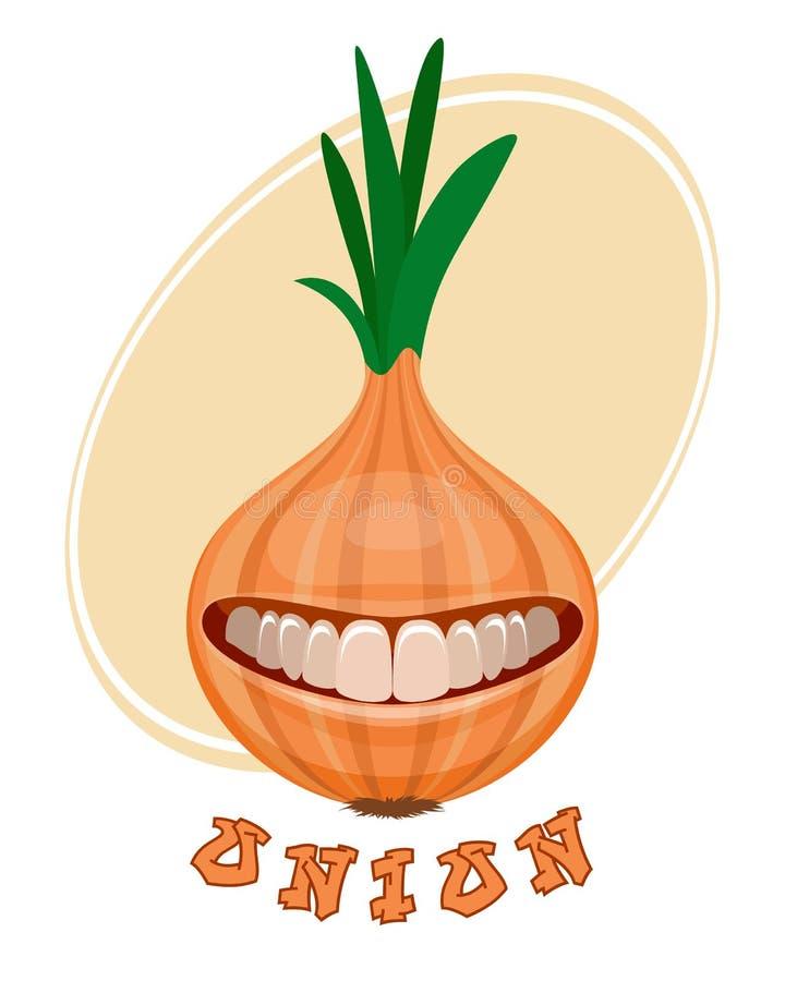Onion on white stock illustration