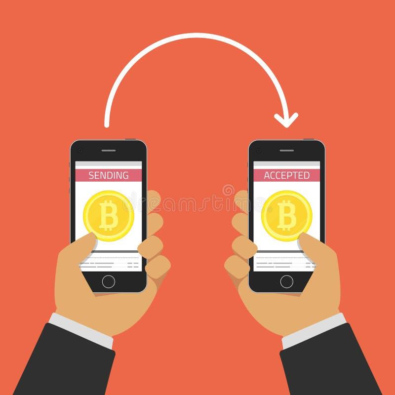 Online buy bitcoin. stock illustration