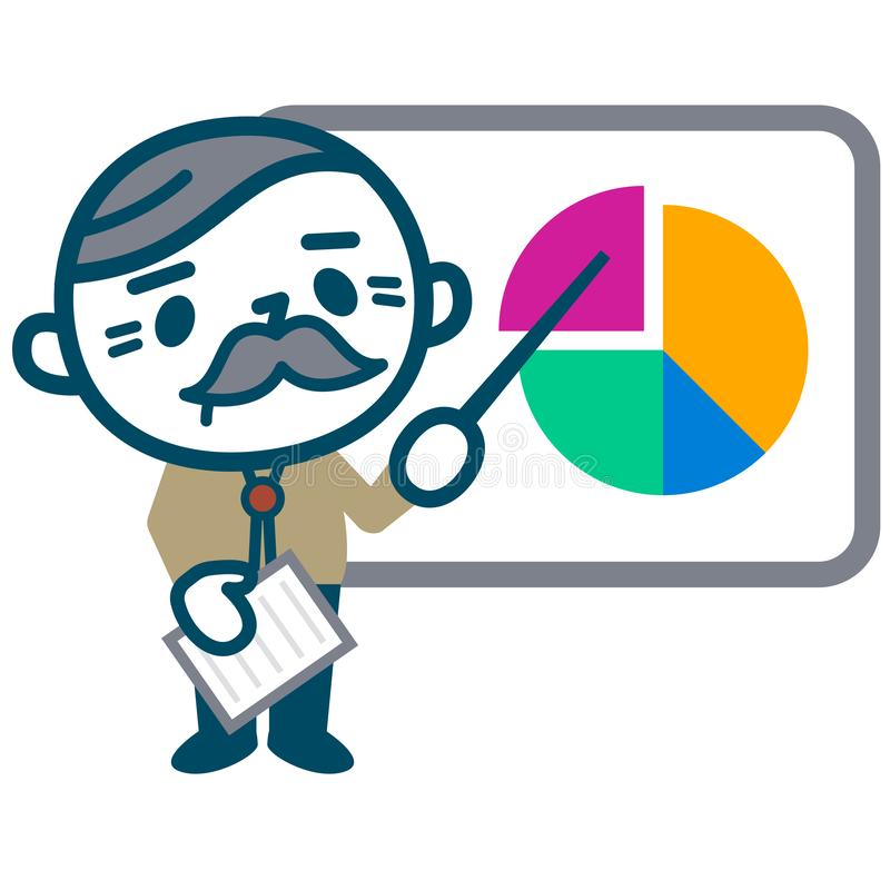 Senior male to analyze stock illustration