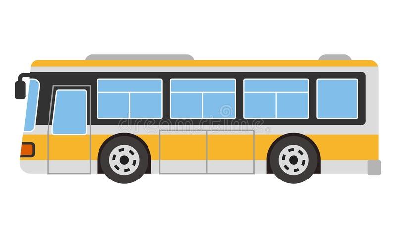 Tour city bus stock vector illustration isolated on white background stock illustration