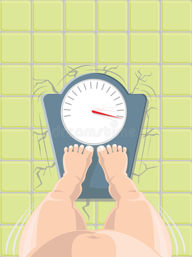 Download Vector Illustration Of Overweight Concept Stock Vector - Image: 15409130