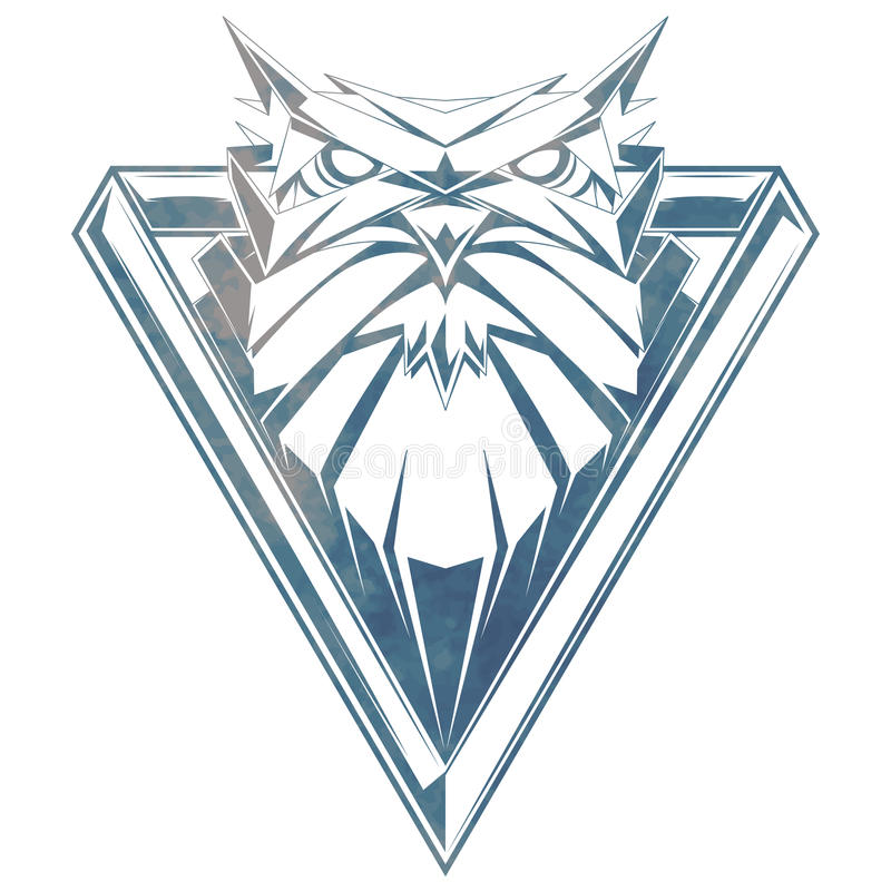 Vector illustration with owl head. vector illustration