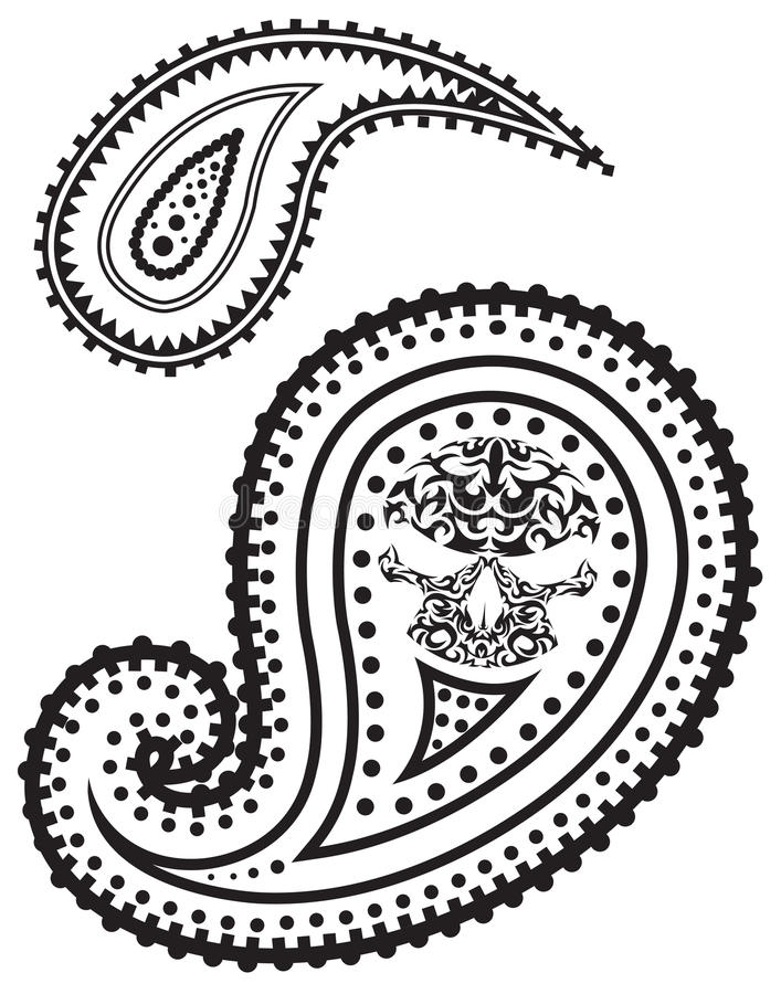 Vector illustration of paisley pattern stock illustration