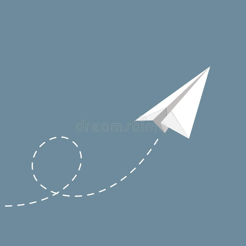 Vector illustration of Paper plane stock photos