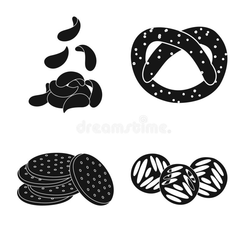 Vector design of party and cooking logo. Set of party and crunchy vector icon for stock. Vector illustration of party and cooking icon. Collection of party and stock illustration