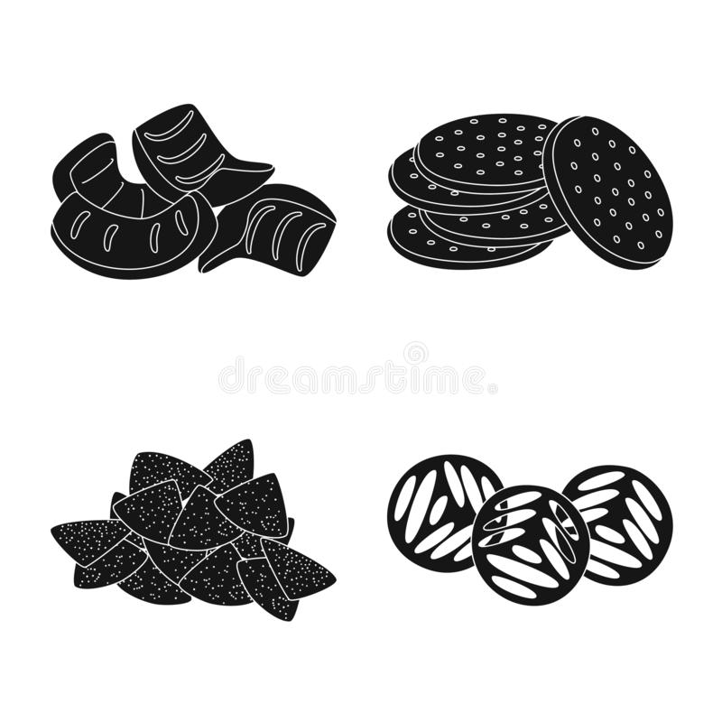 Vector illustration of party and cooking logo. Collection of party and crunchy vector icon for stock. Isolated object of party and cooking icon. Set of party stock illustration