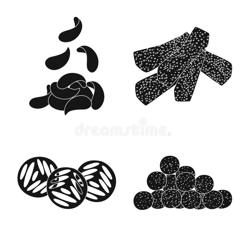 Vector design of party and cooking icon. Collection of party and crunchy stock symbol for web. Vector illustration of party and cooking symbol. Set of party and vector illustration