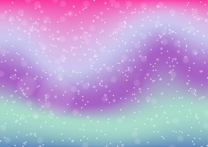 Vector illustration of pastel color abstract background with bokeh. royalty free illustration