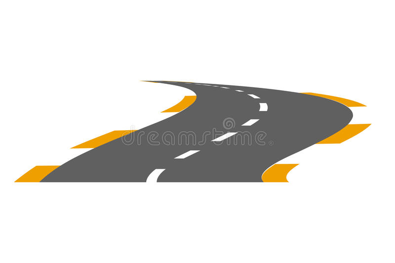 Vector illustration of paved road vector illustration