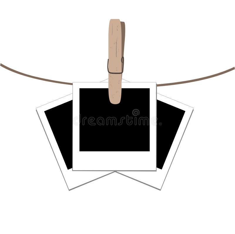 vector illustration of the photo frames stock illustration