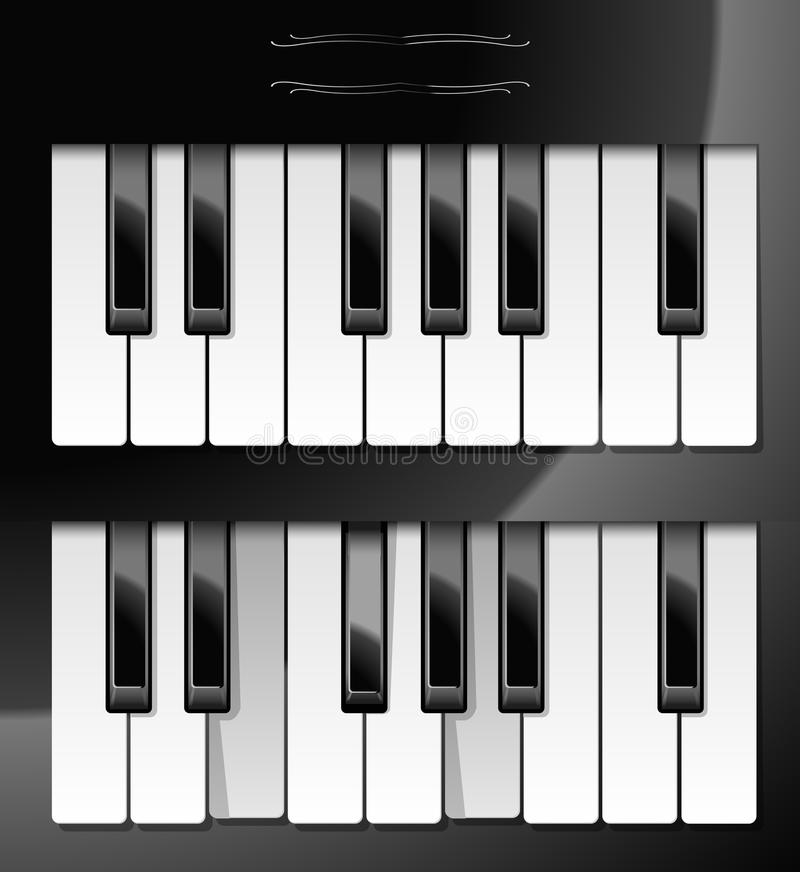 Download Vector Illustration Of Piano Keys Stock Vector - Image: 9732301