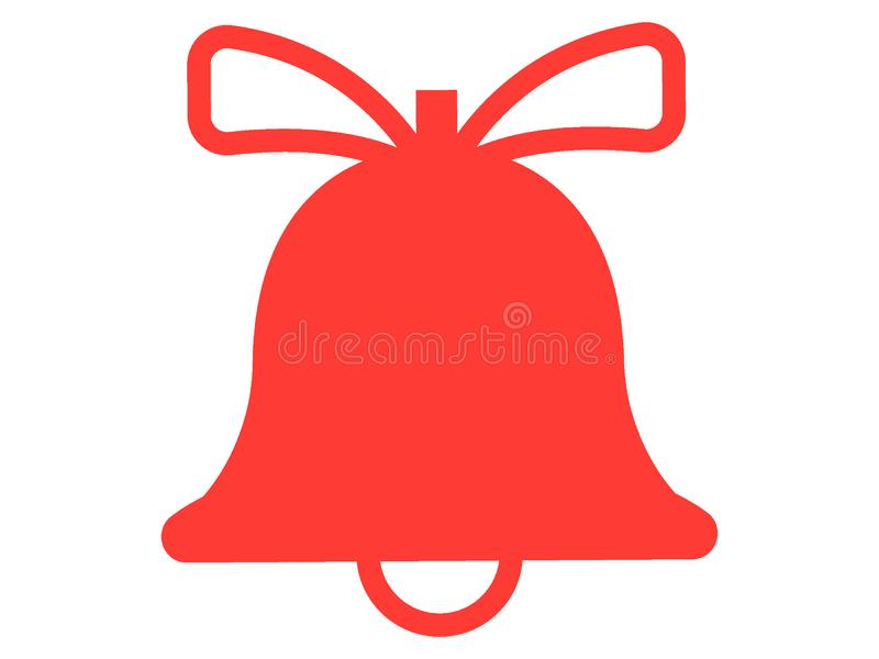 Picture of a Christmas Jingle Bell. Vector illustration of the Picture of a Christmas Jingle Bell royalty free illustration