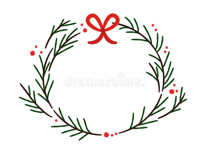 Picture of a Christmas Winter Decoration vector illustration