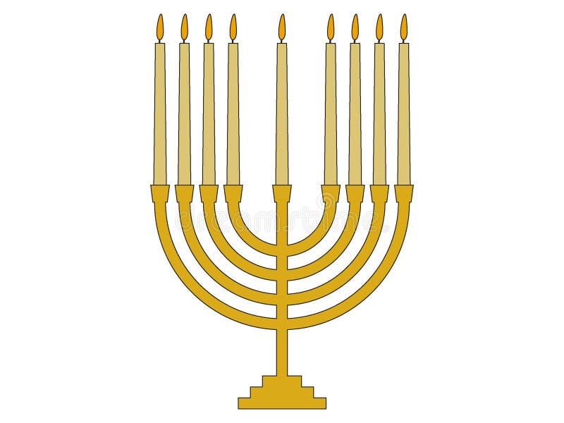 Picture of a Hebrew Menorah. Vector illustration of the Picture of a Hebrew Menorah vector illustration