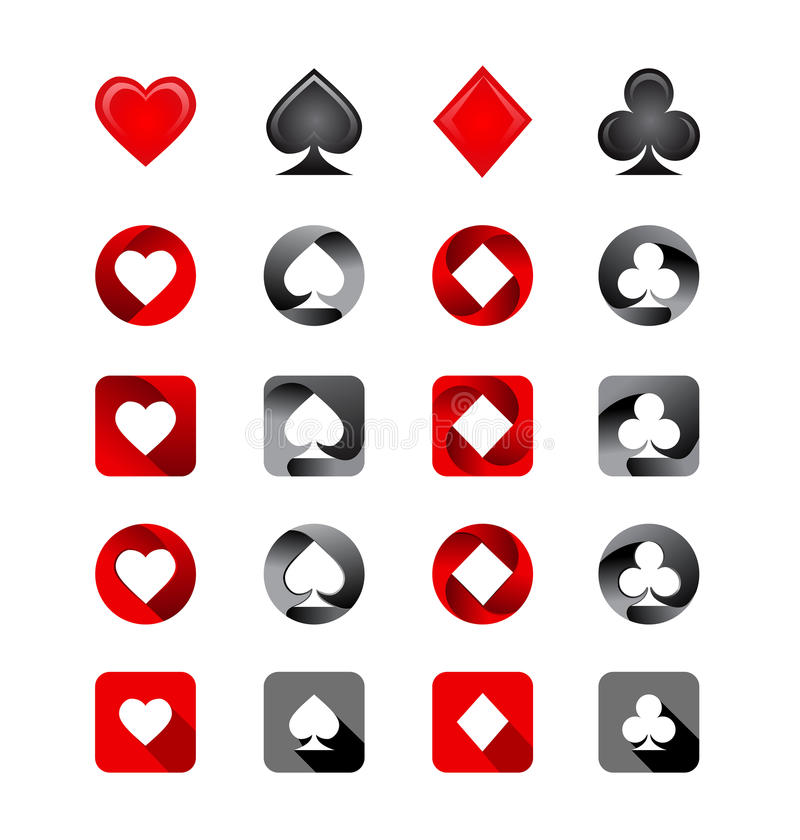 Vector Illustration of Playing Card Suits vector illustration