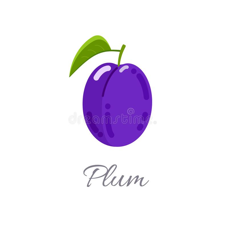 Plum icon with title royalty free illustration