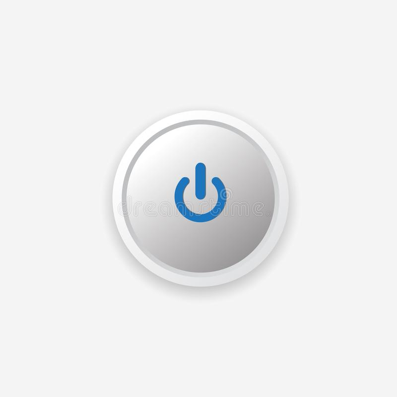 Vector illustration of power button. Is a general illustration royalty free illustration