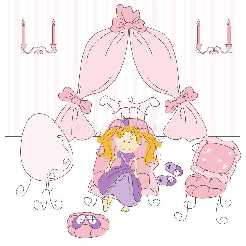 Download Vector Illustration Of A  Princess Bedroom Stock Vector - Illustration of fashioned, fairy: 27456630