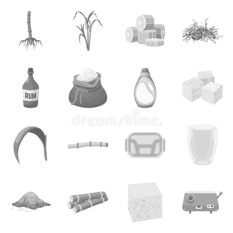 Vector illustration of production and diabetes logo. Collection of production and farm vector icon for stock. royalty free illustration