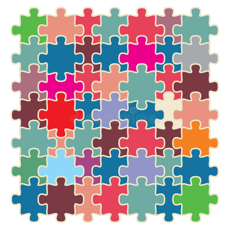 Download Puzzle stock vector. Illustration of icon, blue, pink - 30201581