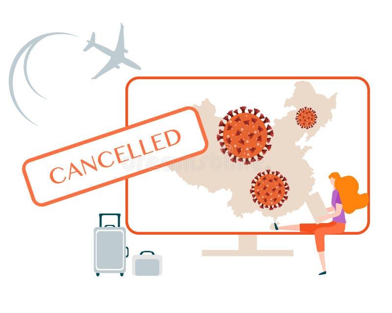 Coronavirus Quarantine Pandemic Travel cancelled royalty free stock photos