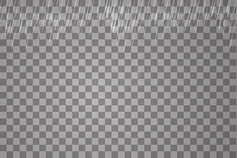 Vector illustration rain isolated on a transparent background stock illustration