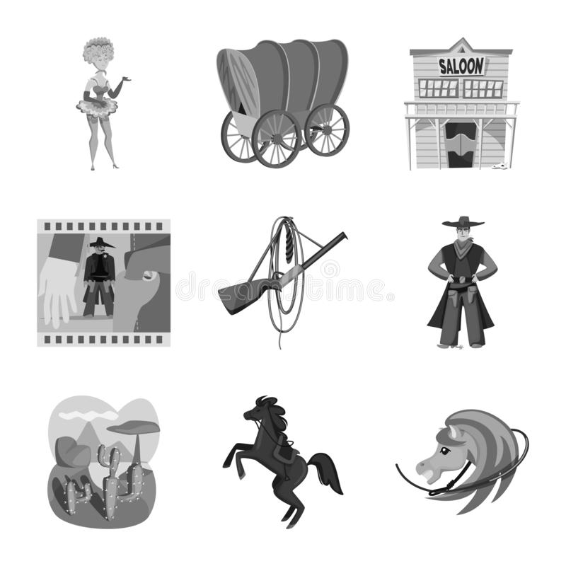 Vector illustration of ranch and farm icon. Collection of ranch and history stock symbol for web. royalty free illustration