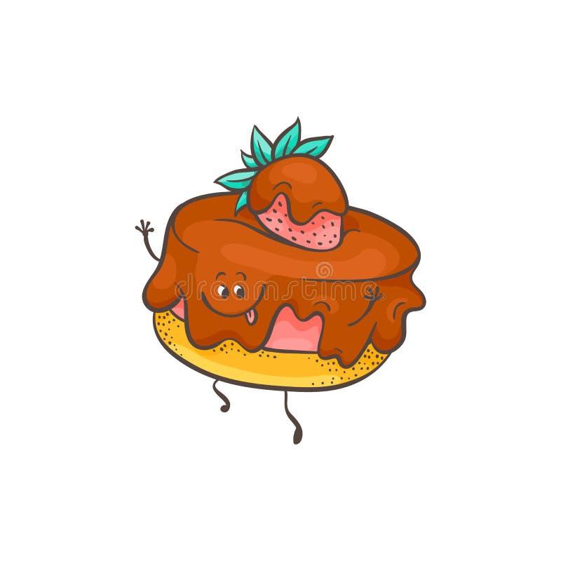Vector illustration of raspberry dessert on cookie with jam and ripe berry. Vector illustration of raspberry dessert on cookie with jam and ripe berry on top vector illustration