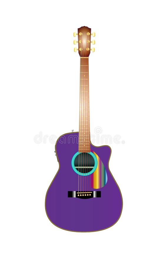 Vector illustration of realistic acoustic guitar vector illustration