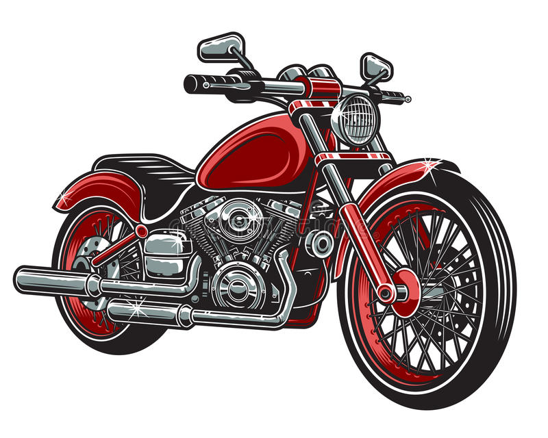 Vector illustration of red color motorcycle vector illustration