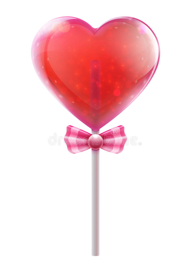 Heart Lollipop Stock Photo