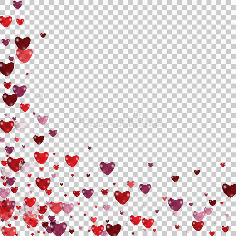 Vector illustration with red love hearts on checkered background stock illustration