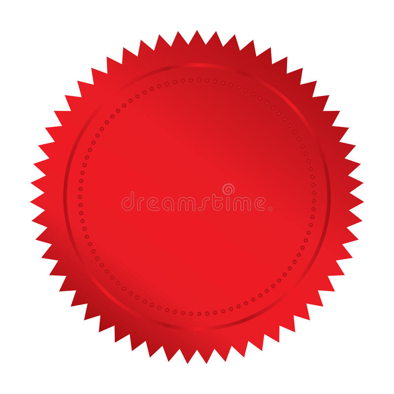 Download Red seal stock vector. Illustration of diploma, approval - 30137426