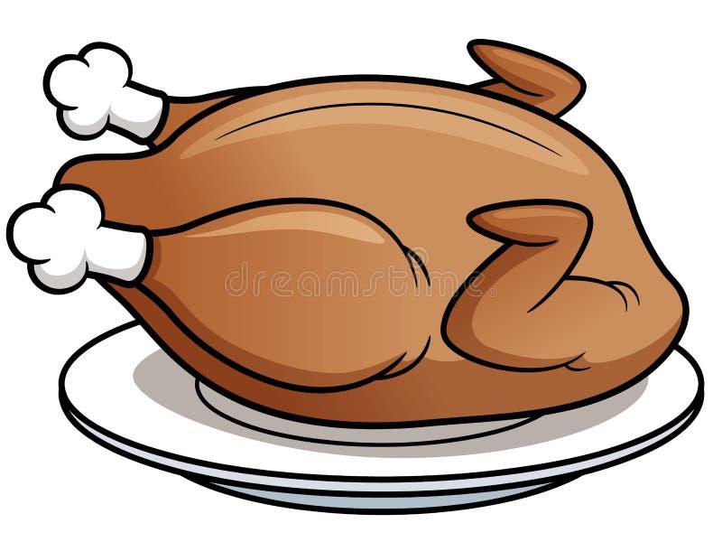 Roast chicken vector illustration