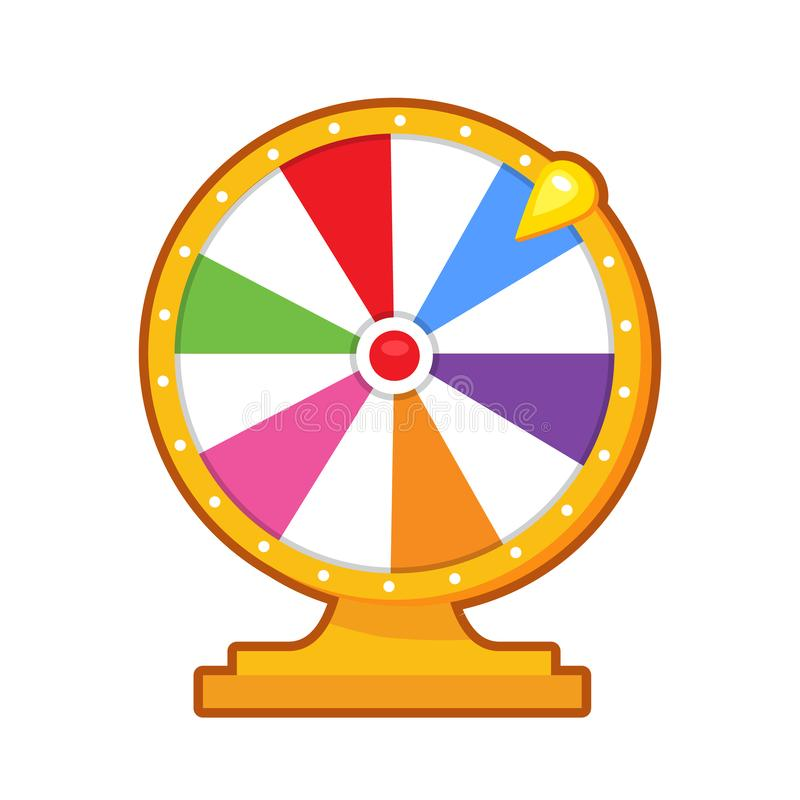Vector illustration of roulette. Vector illustration of colorful game roulette on white background royalty free illustration