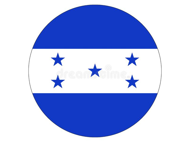 Round flag of Honduras vector illustration
