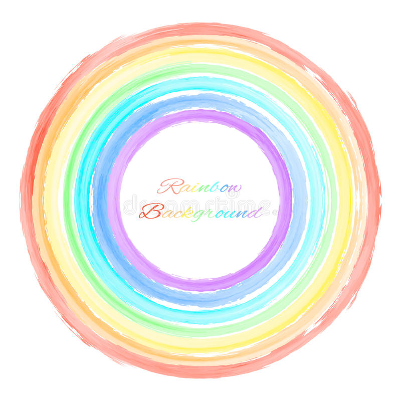 Vector illustration of round rainbow background. Vector colorful rainbow round background with place for text stock illustration