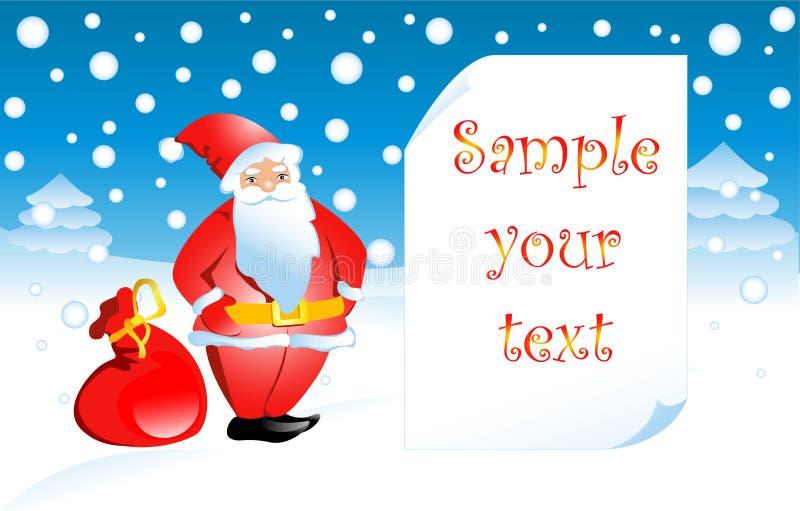 Vector illustration Santa Claus royalty free stock photo