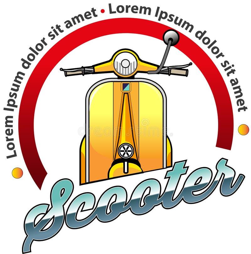 Scooter community symbol. Vector illustration, Scooter community symbol for vespa or scooter lover vector illustration