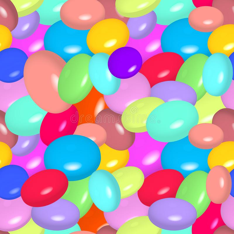 Pattern with colorful candies stock illustration