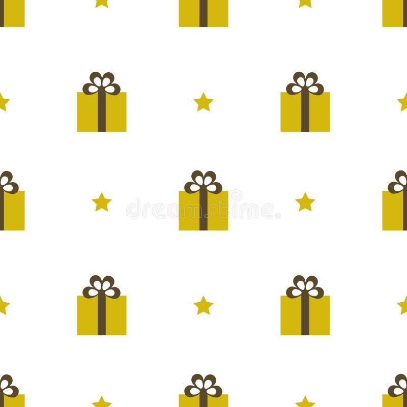 Vector illustration seamless pattern gifts royalty free illustration
