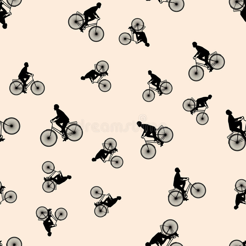 Download Vector Illustration Of A Seamless Pattern With The Images Of People Active Summer Vacationers, Flat Style Stock Illustration - Image: 83706629