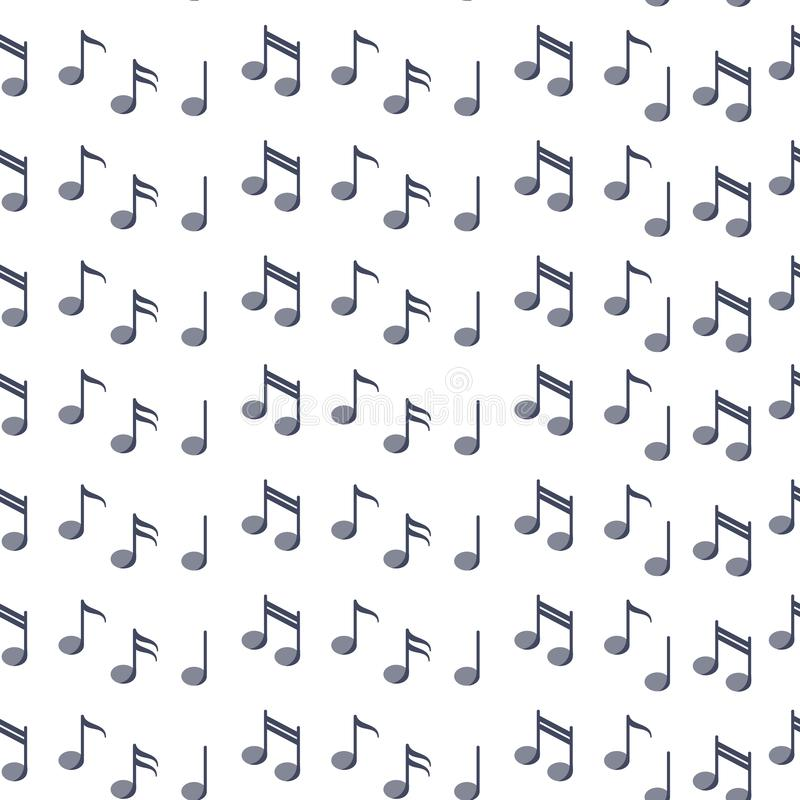 Seamless pattern with notes in flat style stock illustration