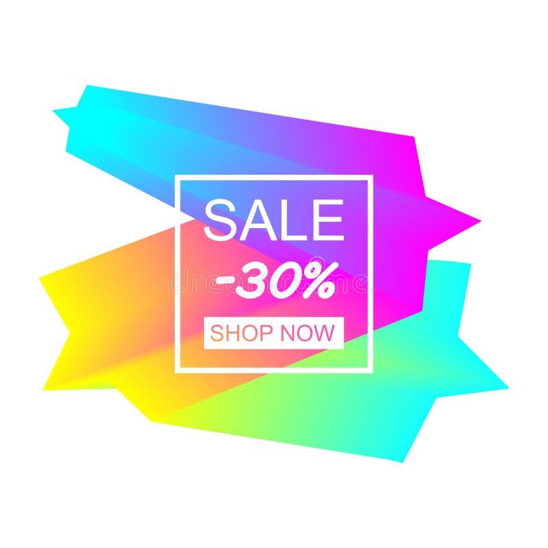 Colorful geometric design element vector illustration