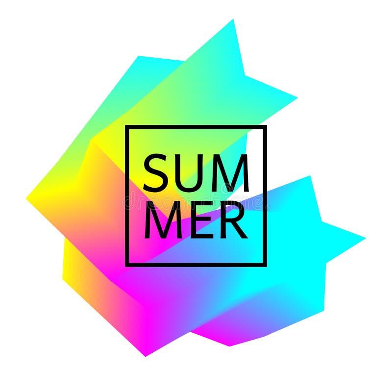 Colorful geometric design element stock illustration