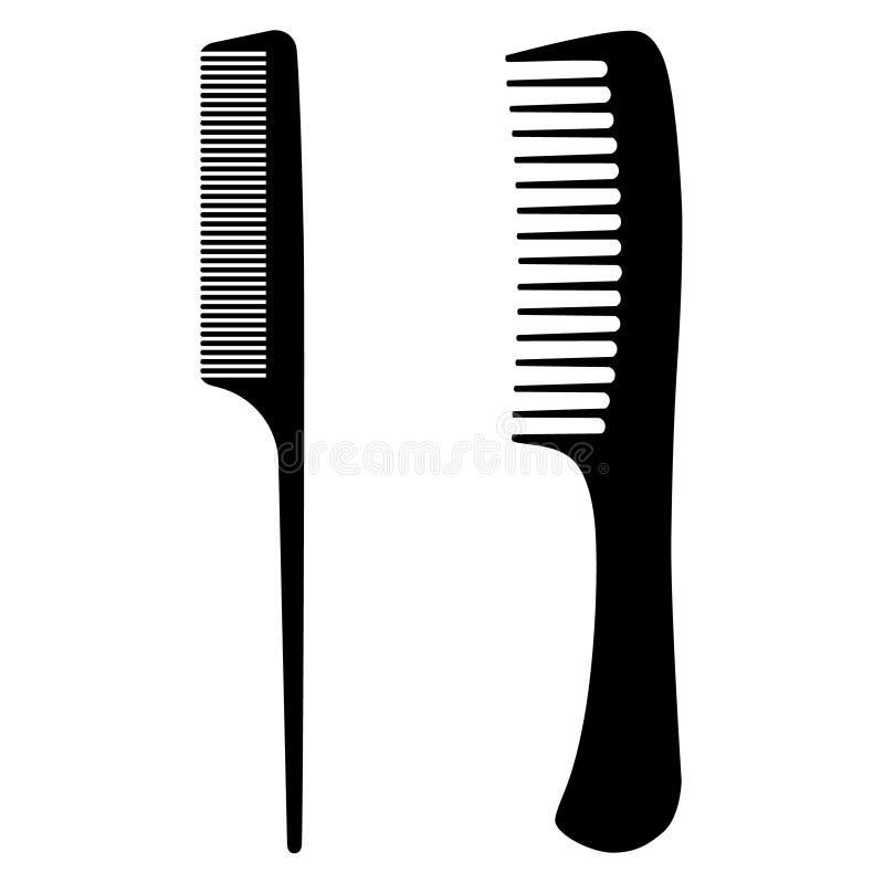 black hair comb stock illustration illustration of