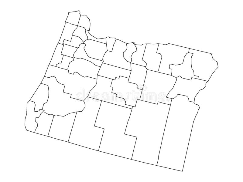 Set of Counties Maps of US State of Oregon. Vector illustration of the Set of Counties Maps of US State of Oregon royalty free illustration
