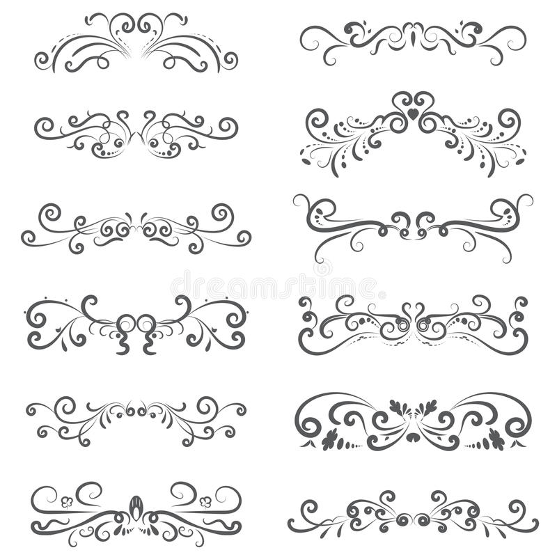 Free Vector Illustration Set Of Border Calligraphic And Dividers Decorative Stock Photo - 95380820