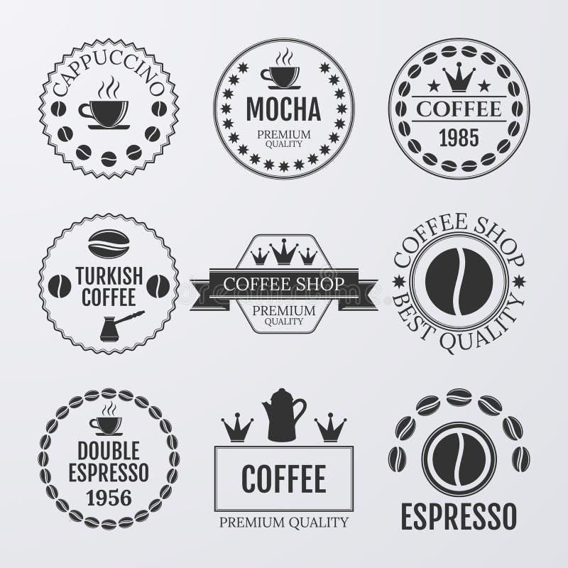 Free Vector Illustration Set Of Logos On Coffee Theme Royalty Free Stock Image - 57787826