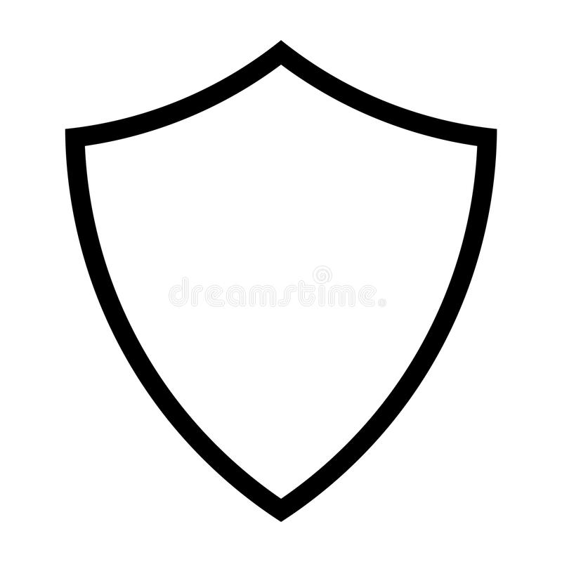 Shield Line Icon. Vector illustration of a shield line icon vector illustration